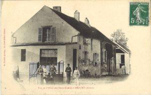 carte postale de Bézuet (Hôtel des deux-entêtés)