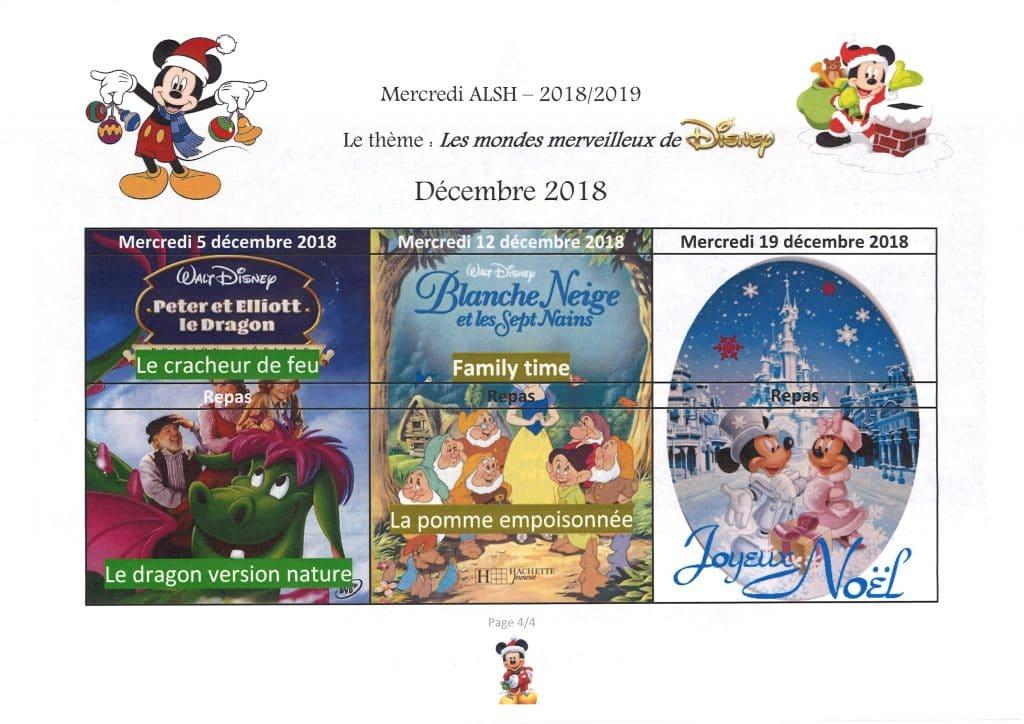 planning ALSH décembre